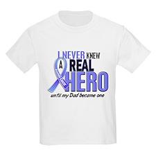 Never Knew A Hero 2 LT BLUE (Dad) T-Shirt