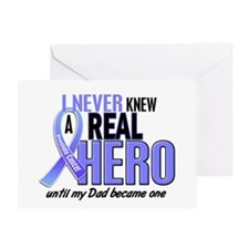 Never Knew A Hero 2 LT BLUE (Dad) Greeting Card