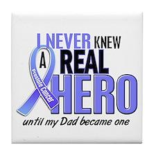 Never Knew A Hero 2 LT BLUE (Dad) Tile Coaster