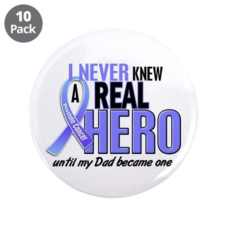 """Never Knew A Hero 2 LT BLUE (Dad) 3.5"""" Button (10"""