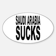 Saudi Arabia Sucks Oval Decal