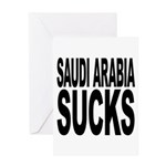 Saudi Arabia Sucks Greeting Card