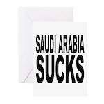 Saudi Arabia Sucks Greeting Cards (Pk of 10)