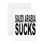 Saudi Arabia Sucks Greeting Cards (Pk of 20)