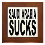 Saudi Arabia Sucks Framed Tile