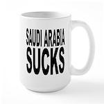 Saudi Arabia Sucks Large Mug