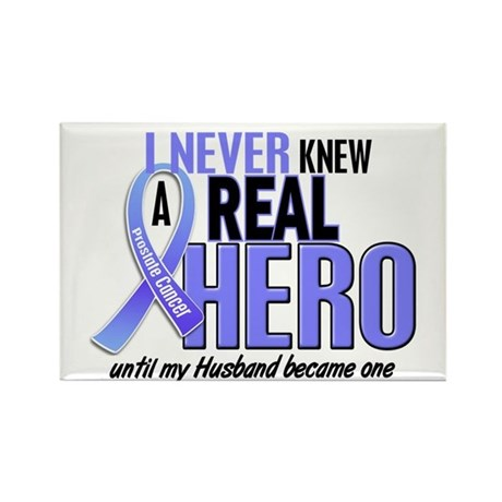 Never Knew A Hero 2 LT BLUE (Husband) Rectangle Ma