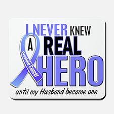 Never Knew A Hero 2 LT BLUE (Husband) Mousepad