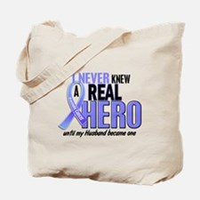Never Knew A Hero 2 LT BLUE (Husband) Tote Bag