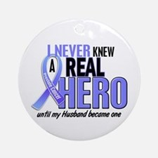 Never Knew A Hero 2 LT BLUE (Husband) Ornament (Ro