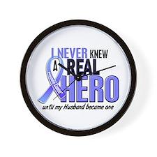 Never Knew A Hero 2 LT BLUE (Husband) Wall Clock