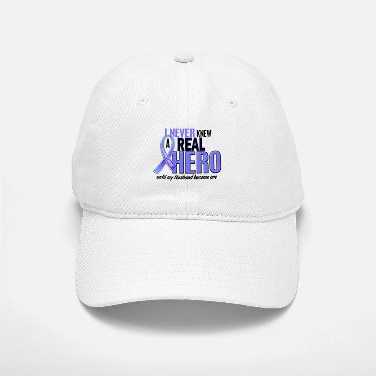 Never Knew A Hero 2 LT BLUE (Husband) Baseball Baseball Cap
