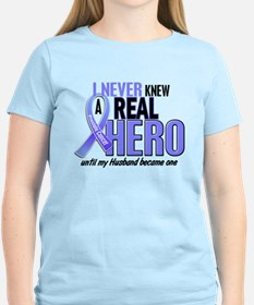 Never Knew A Hero 2 LT BLUE (Husband) T-Shirt