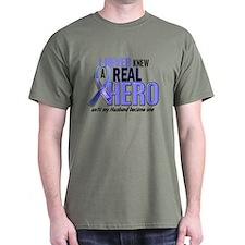 Never Knew A Hero 2 LT BLUE (Husband) T-Shirt