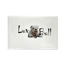 Luv-a-Bull Rectangle Magnet