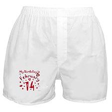 Valentine Feb. 14th Birthday Boxer Shorts