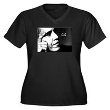 44 Women's Plus Size V-Neck Dark T-Shirt