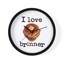 I Love Brinner Wall Clock