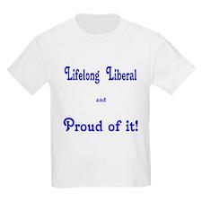 Proud Lifelong Liberal Kids T-Shirt