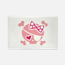 Jilly Pink Rectangle Magnet (100 pack)