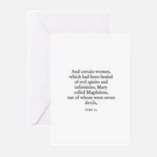 LUKE  8:2 Greeting Cards (Pk of 10)