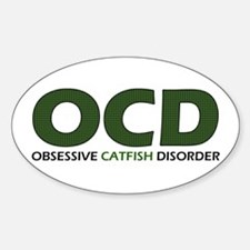 Obsessive Catfish Oval Decal