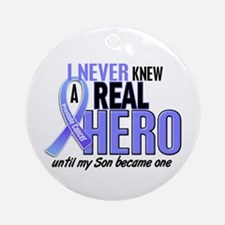 Never Knew A Hero 2 LT BLUE (Son) Ornament (Round)