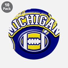 "Michigan Football 3.5"" Button (10 pack)"