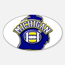 Michigan Football Oval Decal