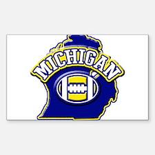 Michigan Football Rectangle Decal
