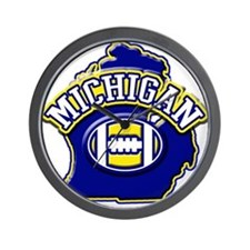 Michigan Football Wall Clock