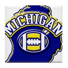 Michigan Football Tile Coaster