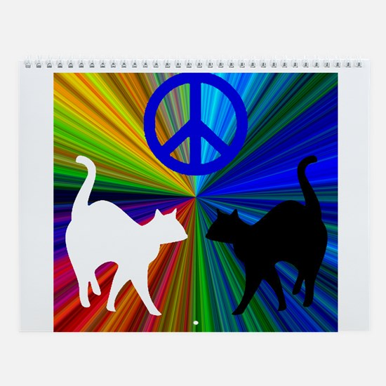 PEACE CATS Wall Calendar