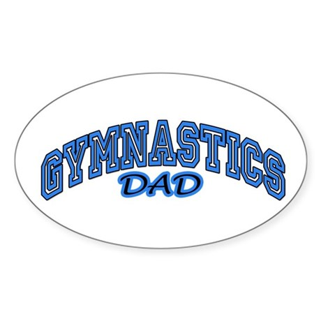 Gymnastics Dad Oval Sticker