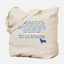 Move Over Vallhund Flyball Tote Bag