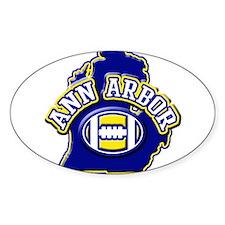 Ann Arbor Football Oval Decal