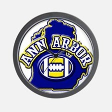 Ann Arbor Football Wall Clock