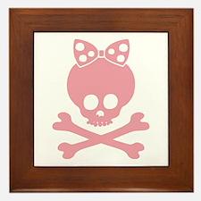 Molly Bow Dot -p Framed Tile