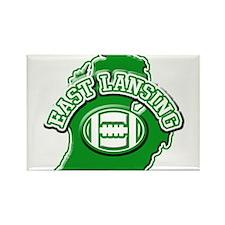 East Lansing Football Rectangle Magnet
