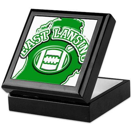 East Lansing Football Keepsake Box