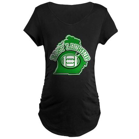 East Lansing Football Maternity Dark T-Shirt