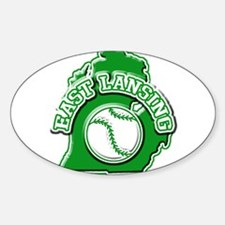 East Lansing Baseball Oval Decal
