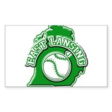 East Lansing Baseball Rectangle Decal