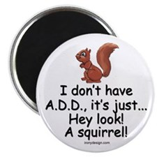 I Don't Have A.D.D. Squirrel Magnet