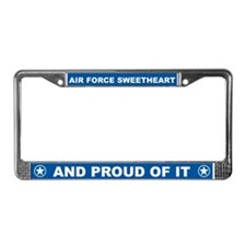 Air Force Sweetheart License Plate Frame