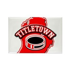 Titletown Hockey Rectangle Magnet