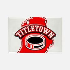 Titletown Hockey Rectangle Magnet