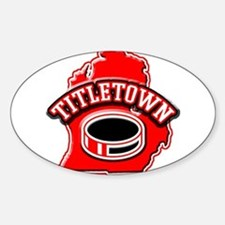 Titletown Hockey Oval Decal