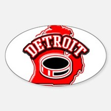 Detroit Football Oval Decal