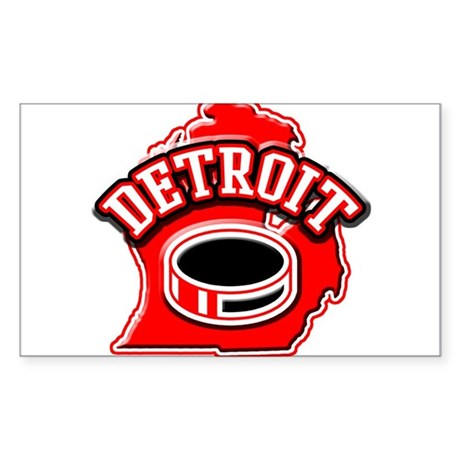 Detroit Football Rectangle Sticker